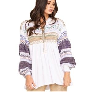 NWT Free People cozy cottage sweater - XS